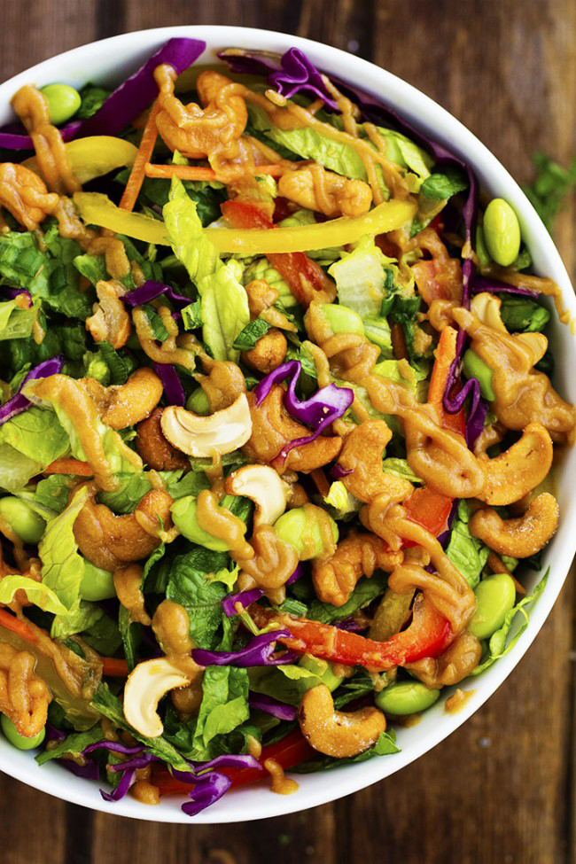 thai-cashew-chopped-salad-with-ginger-peanut-sauce