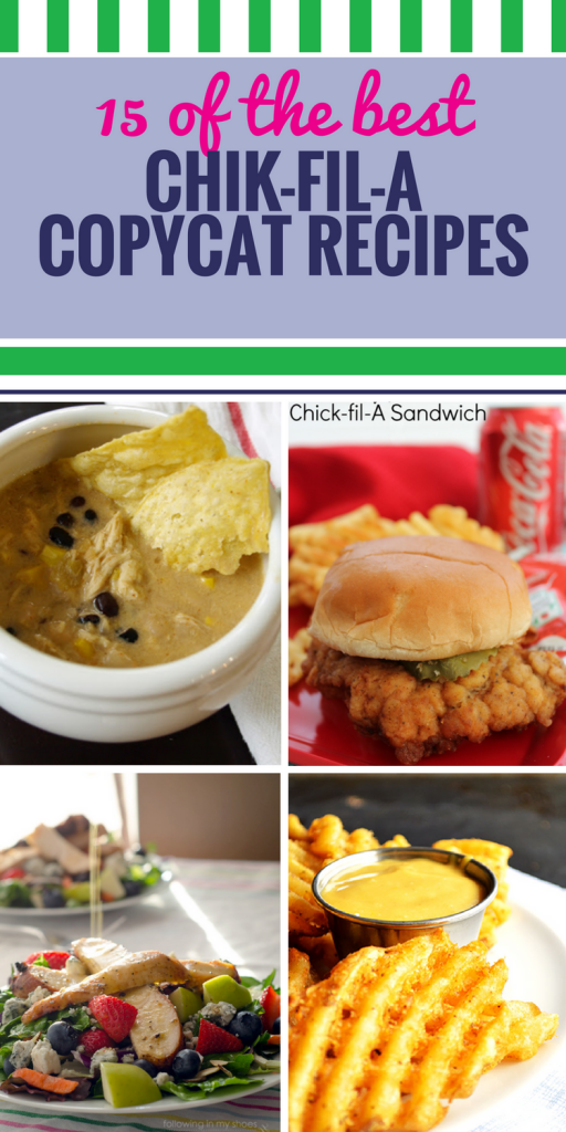 15 Copycat Chick fil A Recipes. There's nothing like a Chick fil A chicken sandwich with special barbecue sauce. Or Chick fil A soup. Even their desserts are good. If you love Chick fil A, you'll especially love making it in your own home.