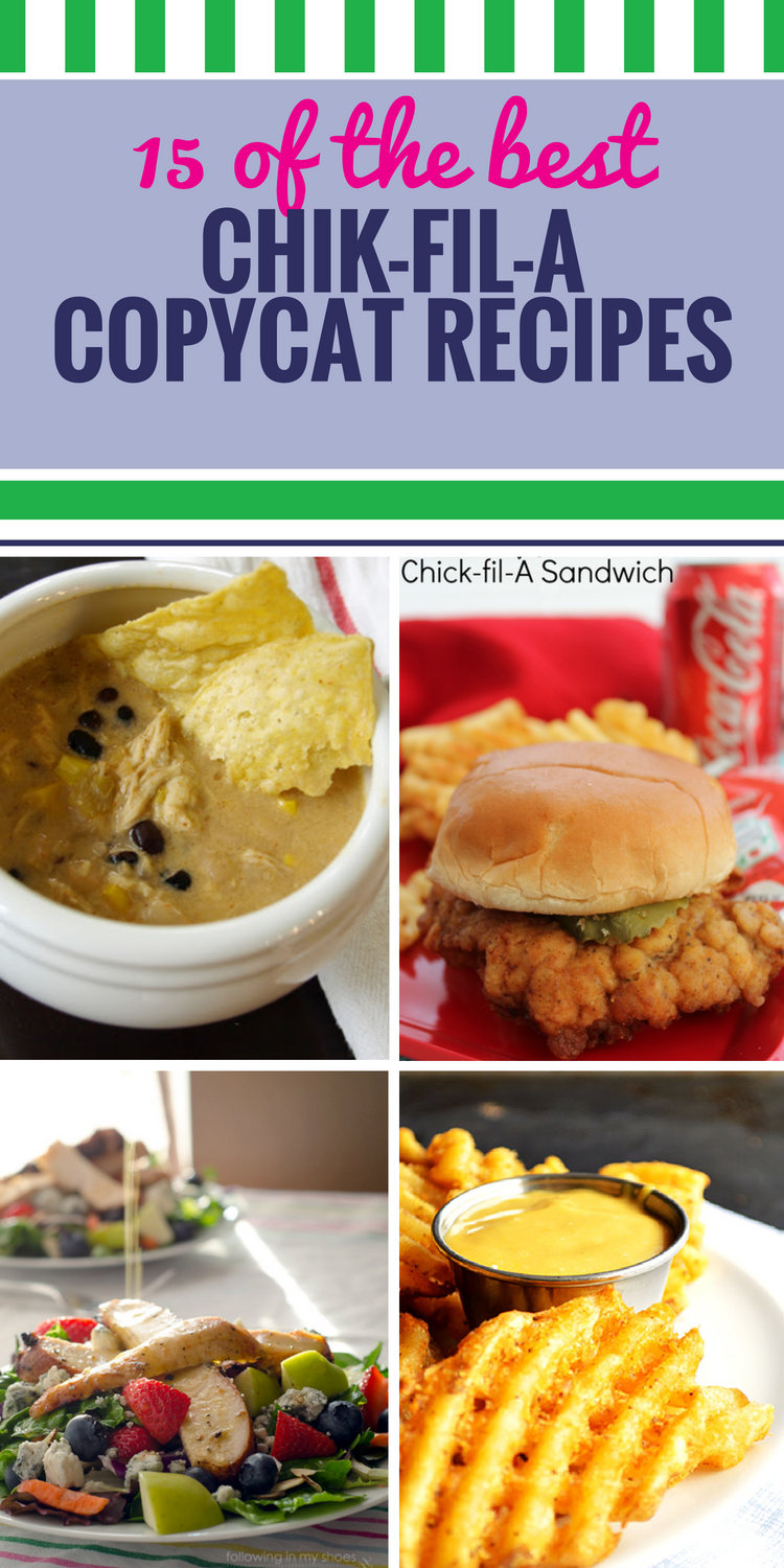 15 Copycat Chick fil A Recipes. There's nothing like a Chick fil A chicken sandwich with special barbecue sauce. Or Chick fil A soup. Even their desserts are good. If you love Chick oil A, you'll especially love making it in your own home.
