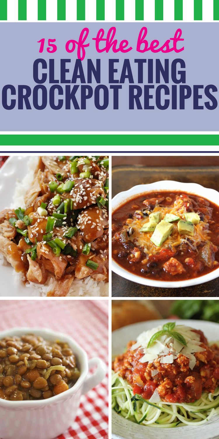 Your slow cooker can be your best friend when it comes to planning your next meal when you're eating clean. Healthy barbecue chicken and great soup for dinner - clean eating never tasted this good.