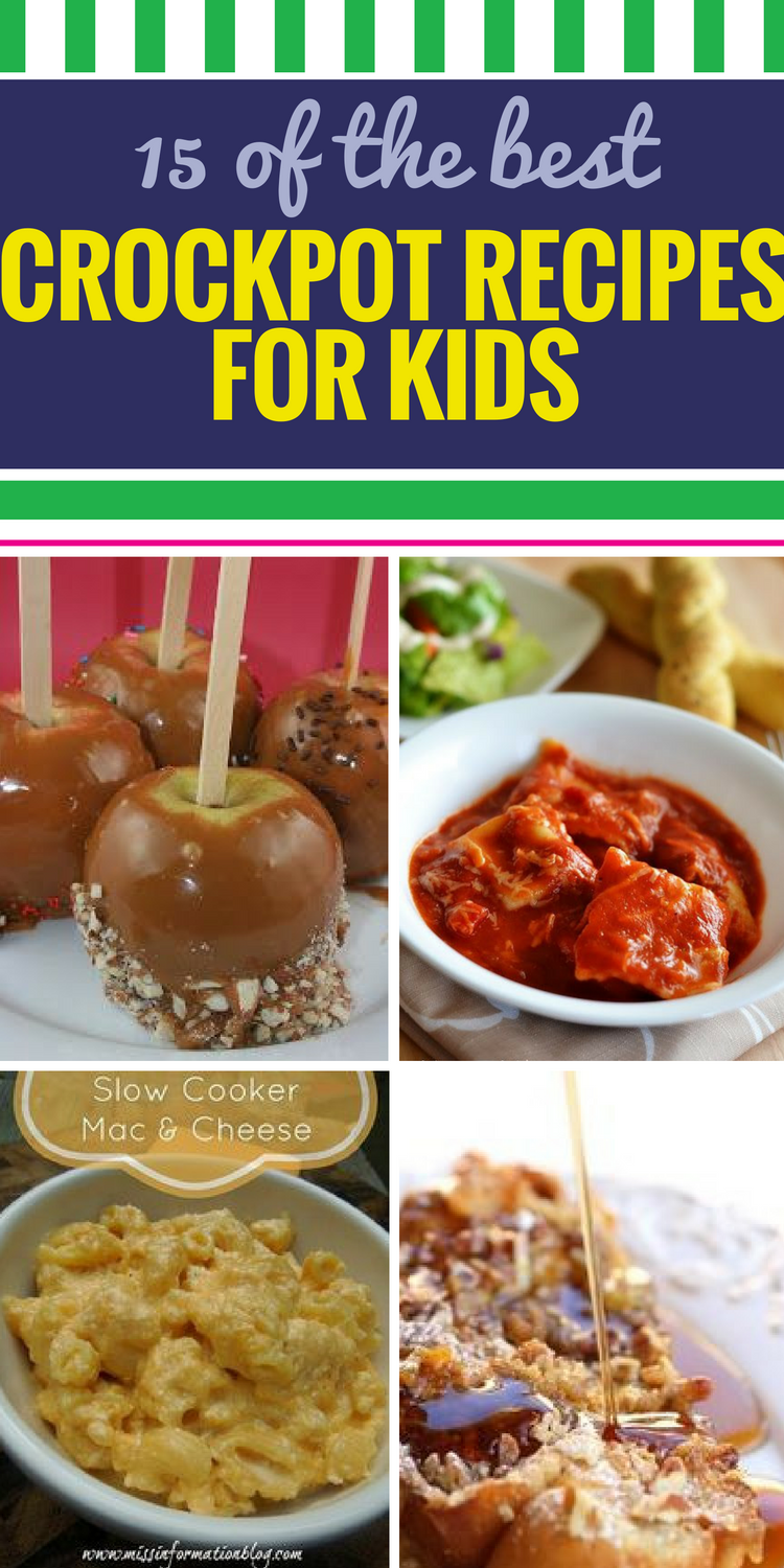 15 Crockpot Recipes for Kids. Even the pickiest eaters will dig right in to a meal they helped prepare themselves. Get children in on the fun of making a healthy dinner, yummy soup or delicious treat and watch them gobble up every bite.