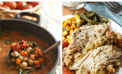 15 Fall Dinner Recipes. Autumn is when we start craving those hearty comfort foods, but it's also a great time to try out some healthy chicken bakes and experiment with seasonal ingredients (our favorite is the Apple Pecan and Feta Salad with Honey Apple Dressing - it's even healthy). Try these at your next fall party or family meal.