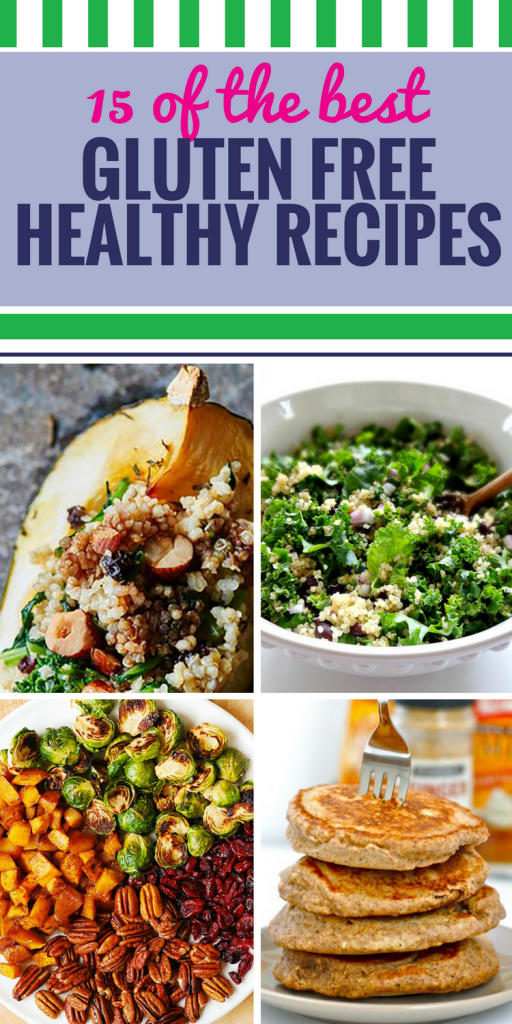 15 Gluten Free Healthy Recipes. So many foods contain gluten, sometimes it's hard to find delicious things that are safe to eat. These 15 gluten free recipes, from dinner ideas to breakfast bars, will solve that problem. We really love this kale and quinoa black bean salad.