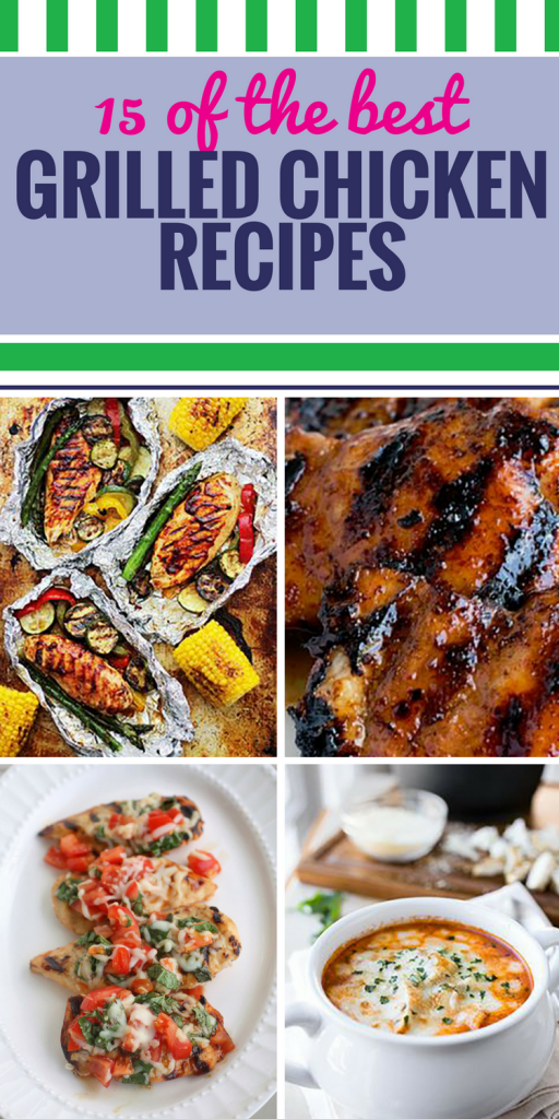 15 Grilled Chicken Recipes. Grilled chicken is a favorite healthy dinner, but it doesn't have to be bland. Spice things up with these salad, soup and sauce ideas.