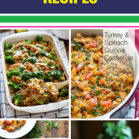 15 Healthy Casserole Recipes. Casseroles are a classic meal and are a great way to make dinner easy and tasty. With ingredients from chicken to quinoa, there's something here to make every family happy - there are even ideas for your crockpot.