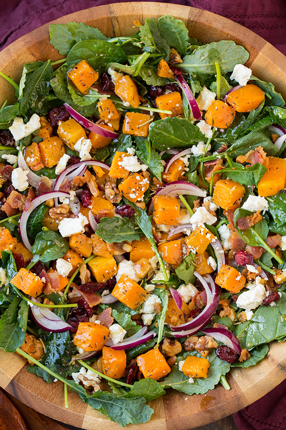 butternut-squash-bacon-salad-with-maple-rosemary-vinaigrette