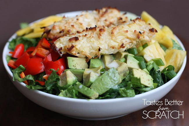 coconut-chicken-tropical-salad-with-creamy-pineapple-vinaigrette