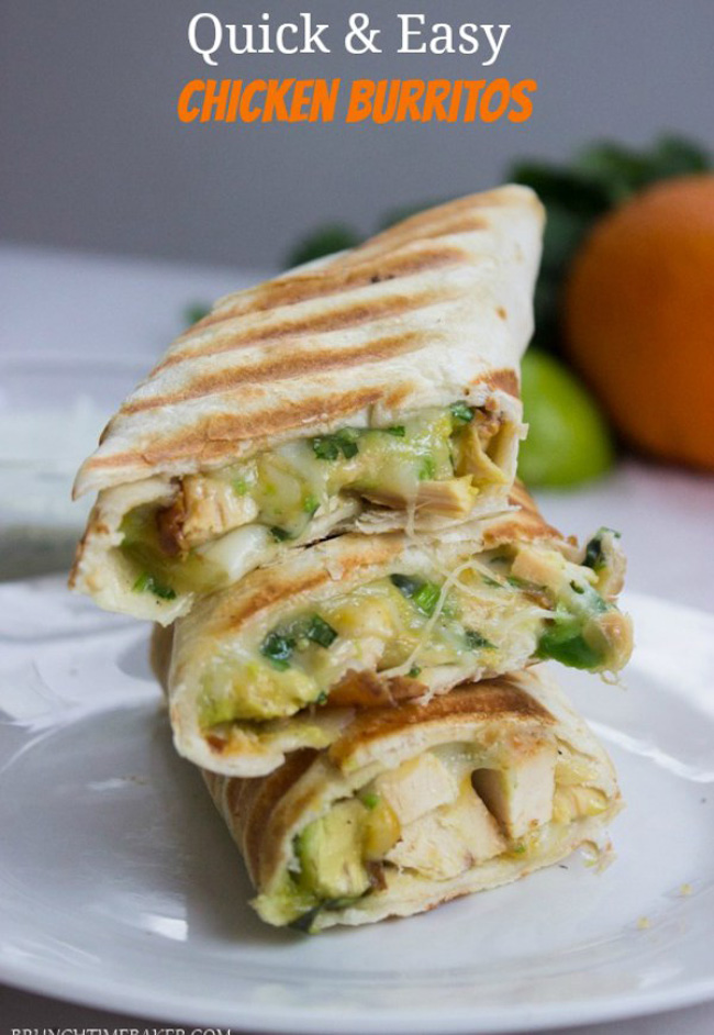 healthy-quick-easy-chicken-avocado-burrito-wraps