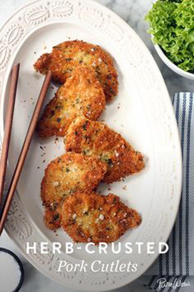 herb-crusted-pork-cutlets