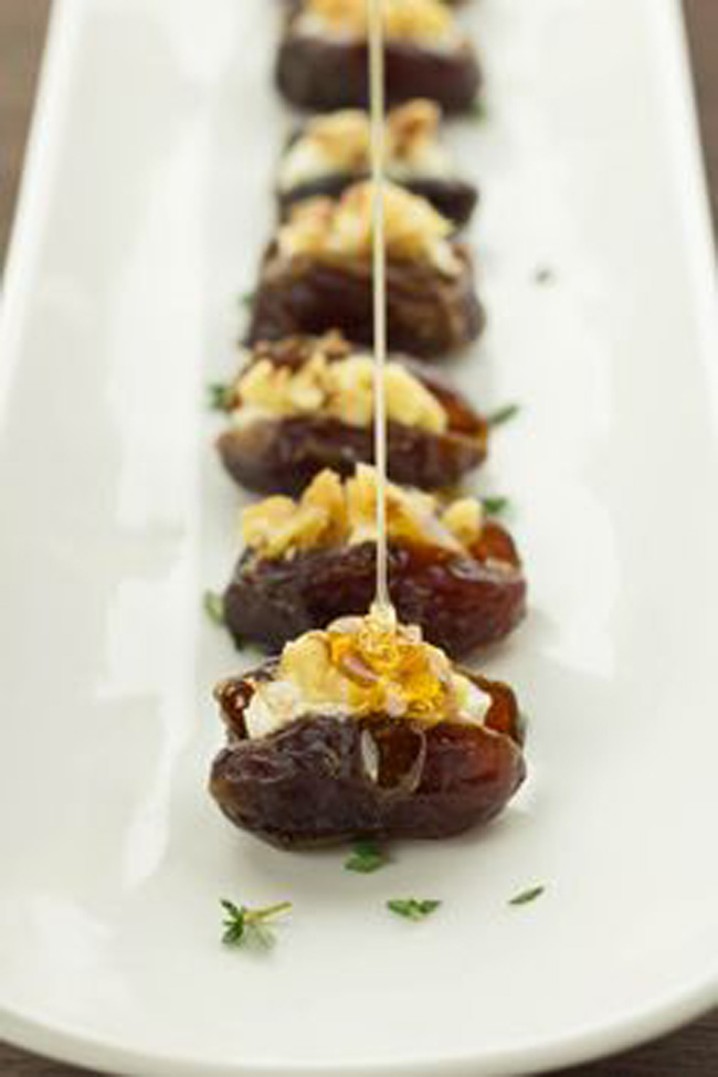 honey-goat-cheese-dates-with-walnuts