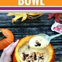 Celebrate fall with this easy Pumpkin Spice Smoothie Bowl Recipe. Made with Greek Yogurt for extra protein, this is a healthy way to start your day (or your afternoon.) Serve from a carved pumpkin bowl for even more fun. Enjoy! tryalittlegoodness