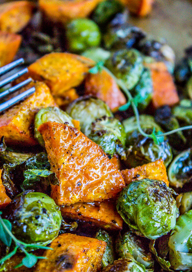 roasted-sweet-potatoes-and-brussels-sprouts