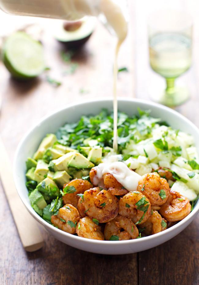 shrimp-avocado-salad-with-miso-dressing