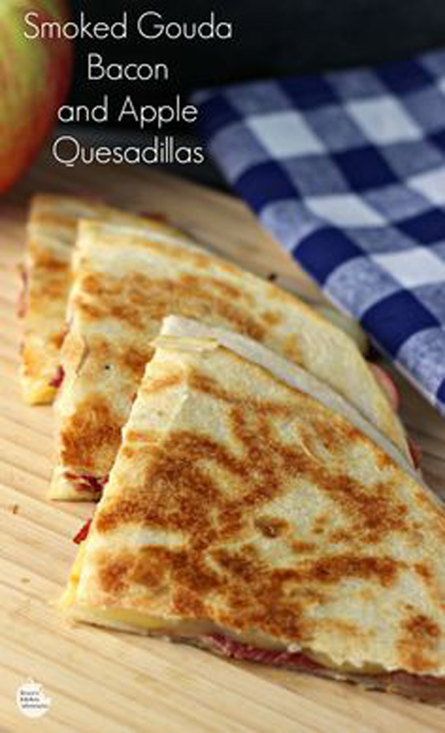 Apple Quesadillas – – Smoked Gouda, Apple and Bacon Quesadillas ...
