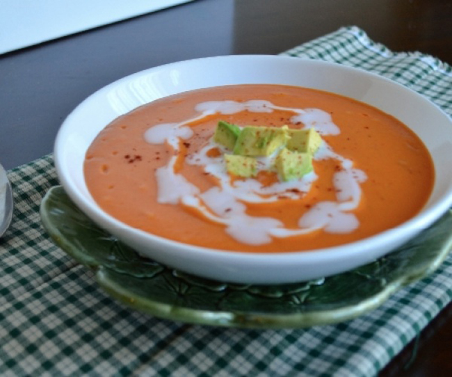 Spicy Sweet Potato Soup Recipe — Dishmaps