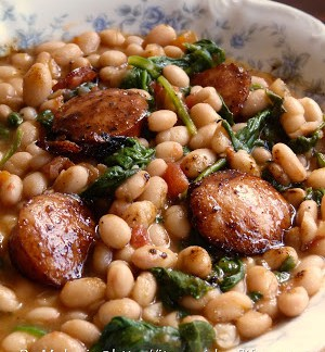 white-beans-with-spinach-and-sausage