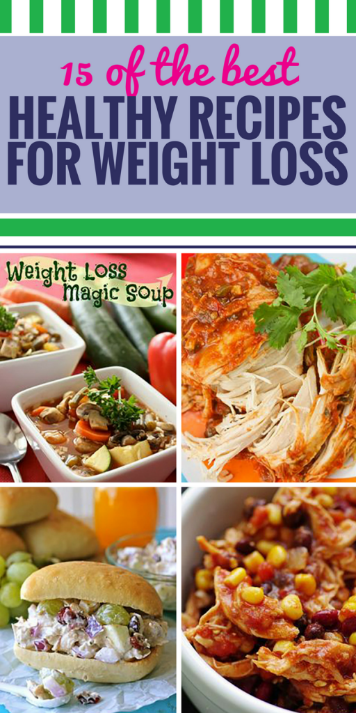 15 Healthy Recipes for Weight Loss. Exercise alone isn't enough to ensure weight loss, you have to be sure to include healthy foods in your diet. When you watch what you're eating, you can still enjoy dinner - try these recipes that include some of your favorite healthy ingredients, like quinoa.