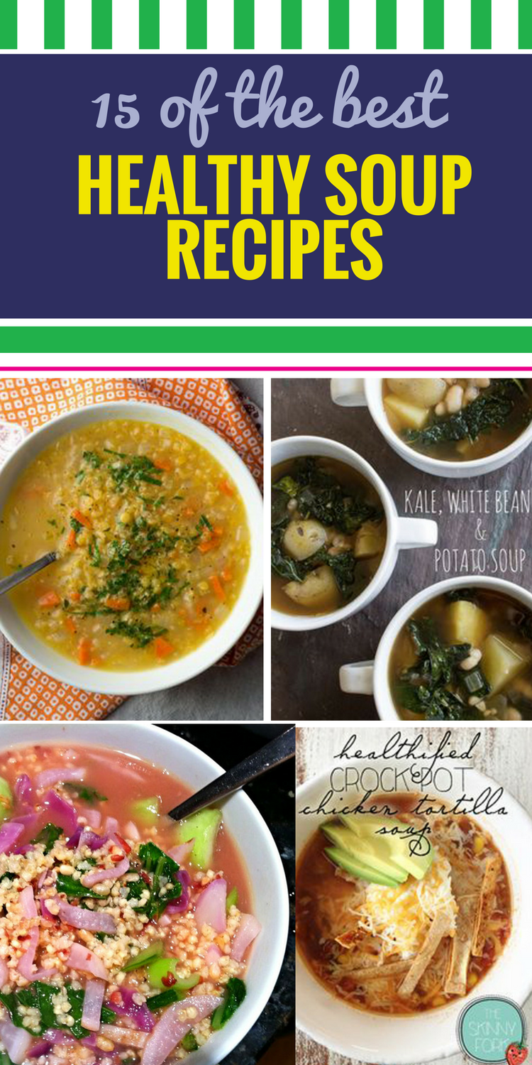 15 Healthy Soup Recipes. Nothing offers variety in a meal like delicious soups. Use your favorite ingredients, like chicken and quinoa and hearty potato, for a rich dinner - make them even easier by popping them in the crockpot.