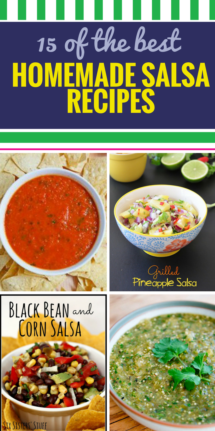 15 Homemade Salsa Recipes. Salsa and chips is a healthy snack anyone can enjoy, and salsa is a fabulous addition to chicken and other dinner entrees. From black bean to fresh lime salsa, there's a recipe here to suit everyone in the family.