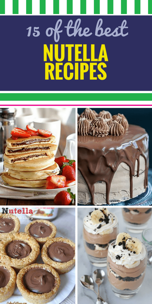 15 Nutella Recipes. If you love Nutella, you're REALLY going to love these desserts, breakfast bread, frosting and cake feature your favorite hazelnut spread.