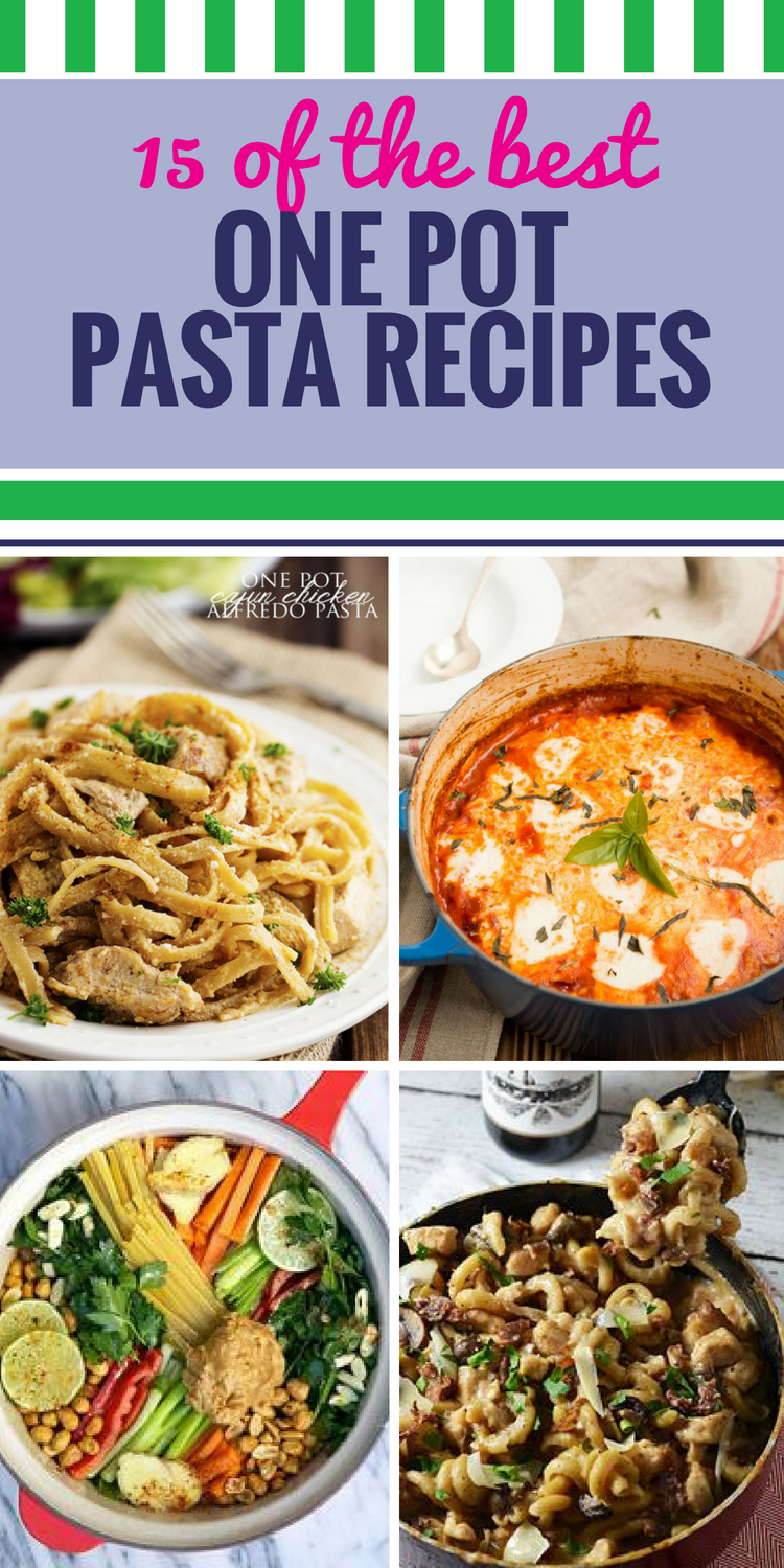 15 One Pot Pasta Recipes. Make dinner the fastest and easiest meal of the day with these simple recipes you can throw all in one pot - chicken, sauce, and other healthy ingredients make dinners no one can resist and can be prepared in no time.