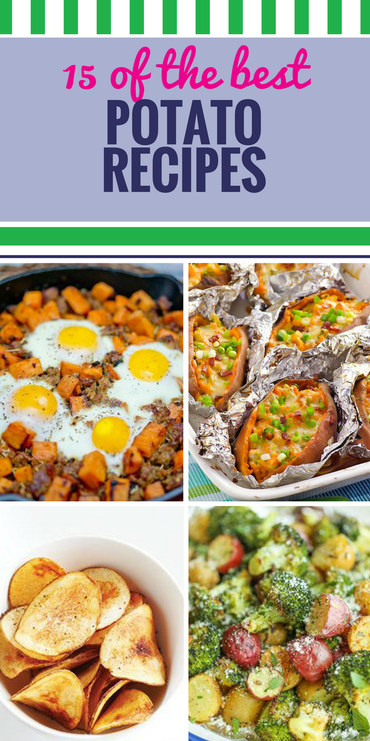 15 Potato Recipes. From sweet potatoes to classic stuffed baked potatoes, there are few ingredients more versatile or universally loved than potatoes. We have great dinner, salad and casserole ideas - even creamy soup and new ways to use chips. These healthy roasted red potatoes make an irresistible side dish, and just wait until you try the easy crockpot recipes.