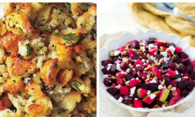 15 Thanksgiving Side Dishes Recipes. As much as everyone loves turkey during the holidays, you'll need some sides to make your dinner a meal. Nothing celebrates fall like an apple salad, stuffing, sweet potatoes - you're going to need a bigger table.