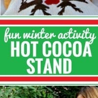 Warm up this winter with a DIY hot chocolate stand! Wondering how to make one? It's simple, and your kids will love it. You could also use these ideas to create a hot chocolate bar for your next party. Plus, follow this delicious and simple hot chocolate recipe. Made with cocoa, almond milk, honey and vanilla - it's a great treat for kids and adults