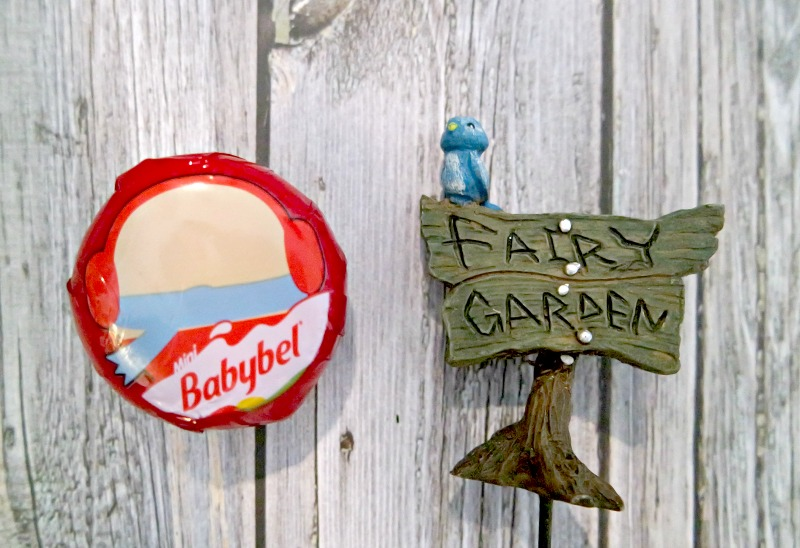 Fairy garden with Mini Babybel