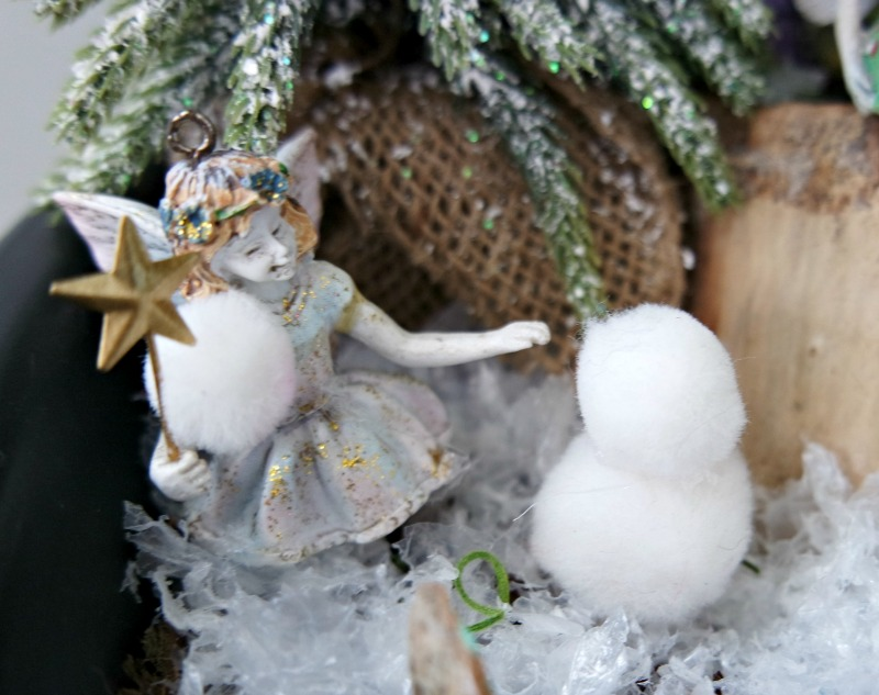 Winter Fairy Garden Snowman