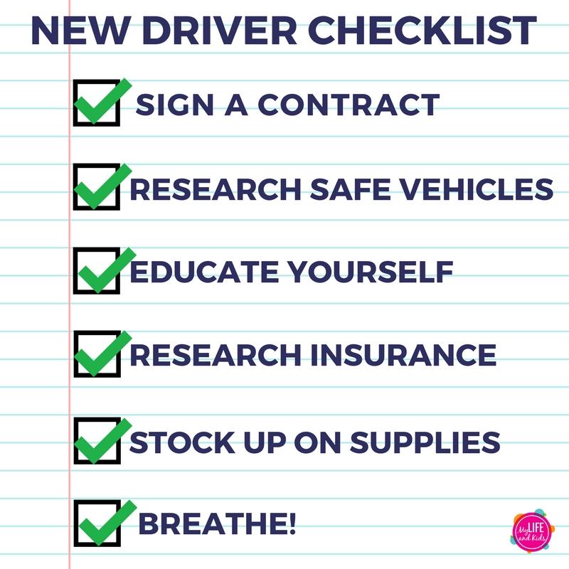 new driver checklist