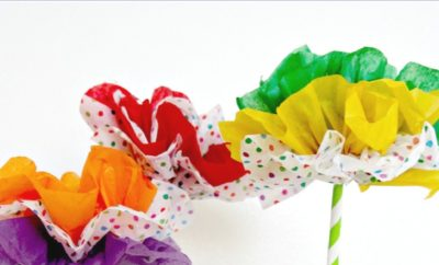 Easy DIY Tissue Paper Flower ideas and tutorial. Brighten anyone's day with these delightful paper flowers. Great for kids to create or adults for a fun craft project with minimal supplies needed. ad