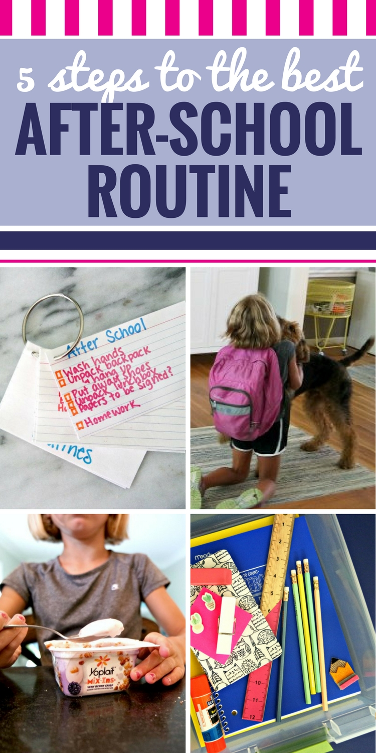 Getting home from school can be hard! After several years of trial and error, we finally have an after-school routine that works. It's simple yet effective. And while it's not the perfect time that I always envisioned, it's pretty darn good. #backtoschool #routine #kids