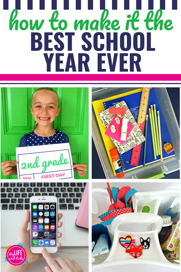 These five tips will make this the best school year ever. Whether your child is in elementary school or high school, you can use these hacks to simplify going back to school. We've included tips on command centers, getting organized, the numbers you should always have in your phone, how to never miss the bus again and MORE (like lunch hacks that every mom needs!) #backtoschool #hacks #parents #mom #bestyearever