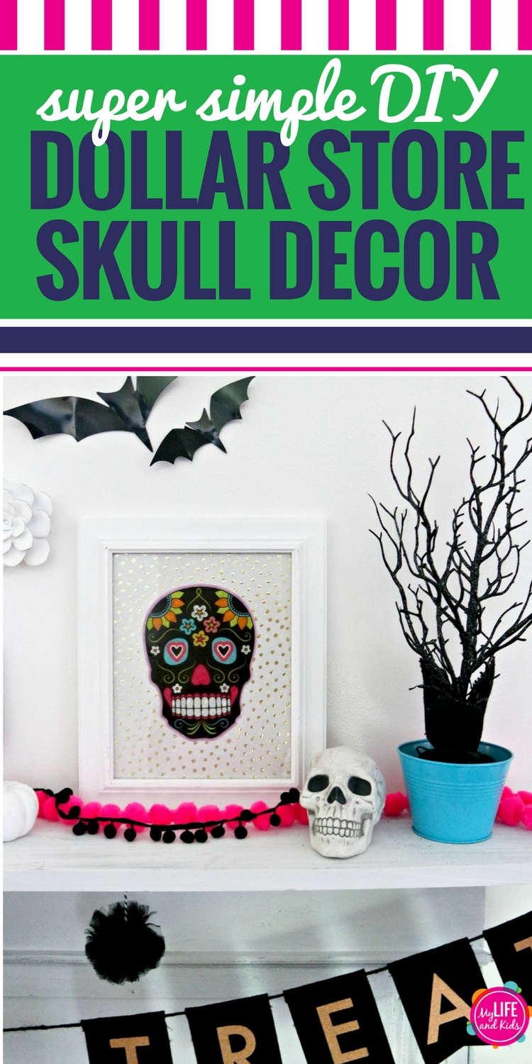 the dollar store and the dollar bins at target become my best friends during the holidays and these diy dollar store skull halloween decorations could not