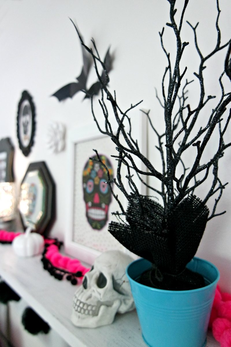 target halloween decor diy dollar store skull halloween decor my life and kids - Target Halloween Tree