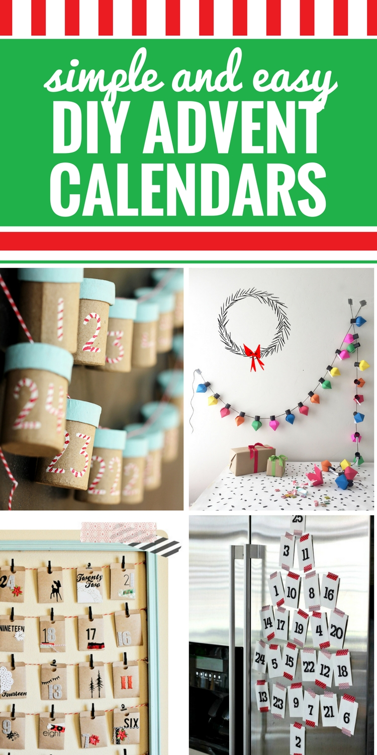 Whether you prefer just to count down to Christmas, or you like to plant activities within your advent calendar, you're going to love these super simple and gorgeous DIY Advent Calendars. From no-sew to paper and envelope crafts and even mini trees, you will love these advent Christmas crafts (and your kids will too.)
