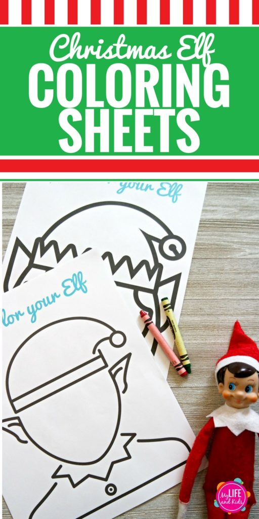 These Christmas Elf Coloring Sheets are fun for kids and adults. Download the free printable and let your kids color their Elf on the Shelf and draw in a fun face. They can also cut them out and create a fun puppet show or give them as a gift to their Elf on the Shelf. The ideas are endless.