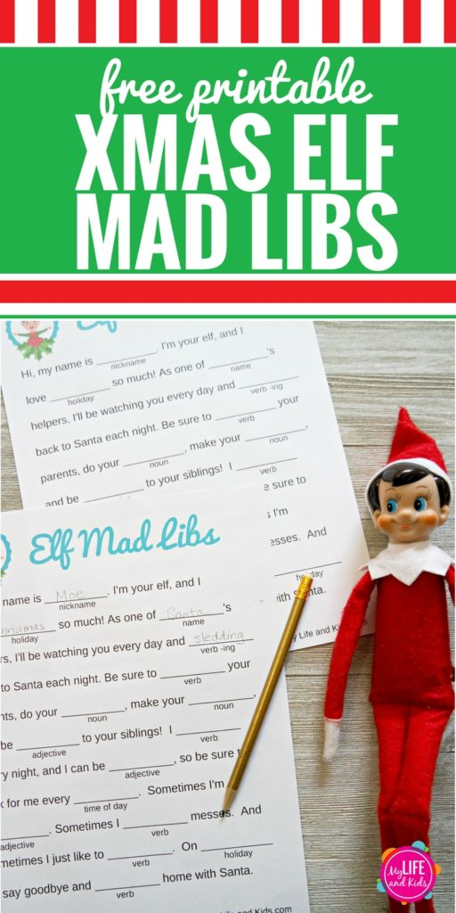 If your kids love Elf on the Shelf and love Mad Libs, they are going to LOVE these Christmas Elf Mad Libs. This free printable will have them giggling as they fill in the blanks and create silly stories about their Christmas Elf.