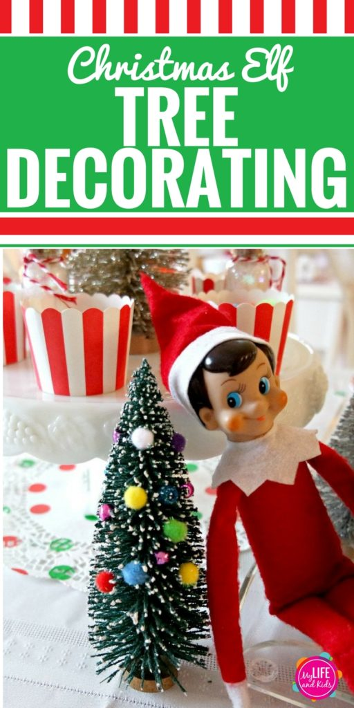 Your kids will LOVE decorating a tree for their Elf on the Shelf. And you will love how SIMPLE this project is. No glue needed. This fun Elf on the Shelf DIY craft is perfect for your next Christmas party for kids.