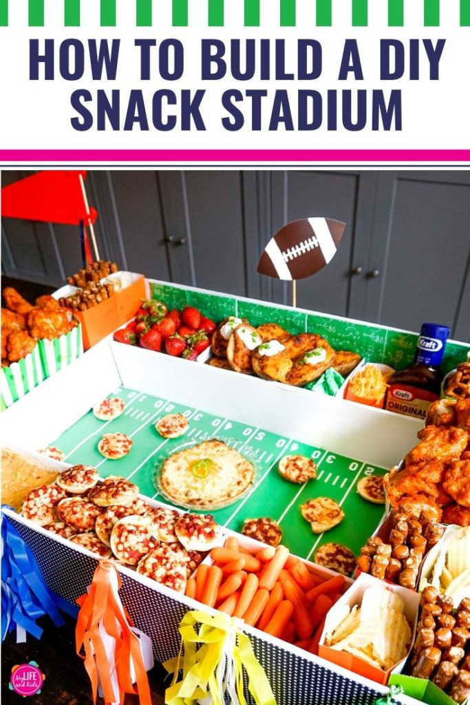 Whether you're gearing up for the Big Game or just planning a football-themed party, this DIY snack stadium is super easy to pull together. When you fill it with your favorite Kraft Heinz products from Walmart, it takes this simple concept to the ultimate level. From Bagel Bites to Potato Skins (and this amazing Jalapeño Popper Dip), your guests will be amazed by this party food – Only the Greats Make the Bowl! [AD] #kraftheinzsnackstadium #gamedayready #Walmart [sponsored]