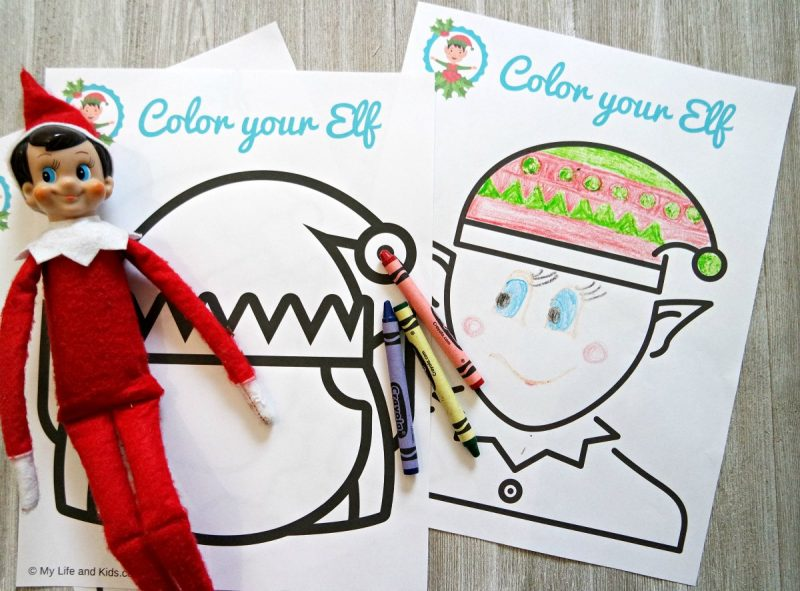 Christmas Elf Coloring Sheets My Life And Kids