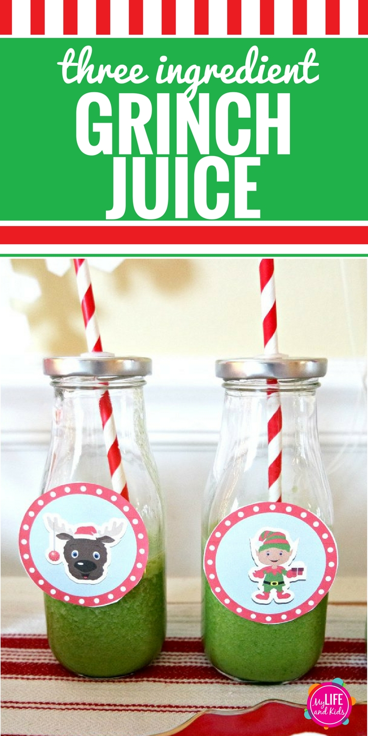We have a new favorite drink at our house - Grinch Juice! It's so simple to make, and it tastes so good. Your kids will never even know that they're drinking spinach! Follow this simple recipe to serve Grinch Juice every morning. This healthy recipe for kids is easy and delicious.