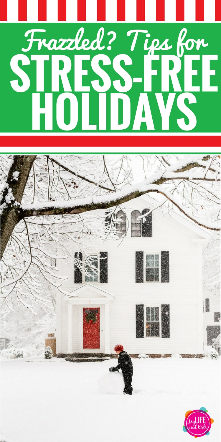 Are the holidays stressing you out? Follow these tips to have a less stressful and more peaceful Christmas with your family. We're covering Christmas cards, that perfect family picture, parties, baking and your health. Plus see tips for migraine and headache remedies from the experts. #Christmas #stress #headache #ad
