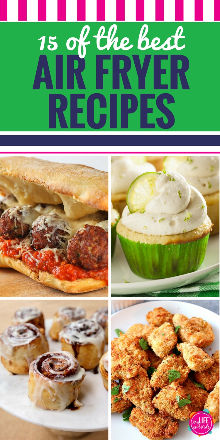 Are you into clean eating? If you don't have an air fryer machine yet, these 15 recipes will make you want to get one ASAP. From chicken to healthy fries to vegetables, beef, pork, fish, desserts, vegan, gluten free and even Weight Watchers approved ideas, I'm sharing 15 of the BEST air fryer recipes. (Plus I'll show you where to buy the one with the best reviews!) #airfryer #airfryerrecipes #recipes #cleaneating
