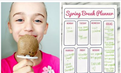 Spending Spring Break at home with the kids and need some ideas? You'll love these fun ideas and pictures to have a staycation that everyone will love and remember - complete with a free spring break planner bucket list printable. #springbreak #staycation #freeprintable #kids #ideas