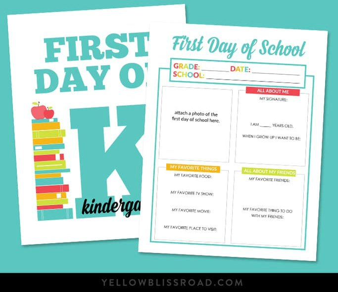 image relating to First Day of School Printable Sign called Totally free 1st Working day of College Signs or symptoms - My Everyday living and Little ones
