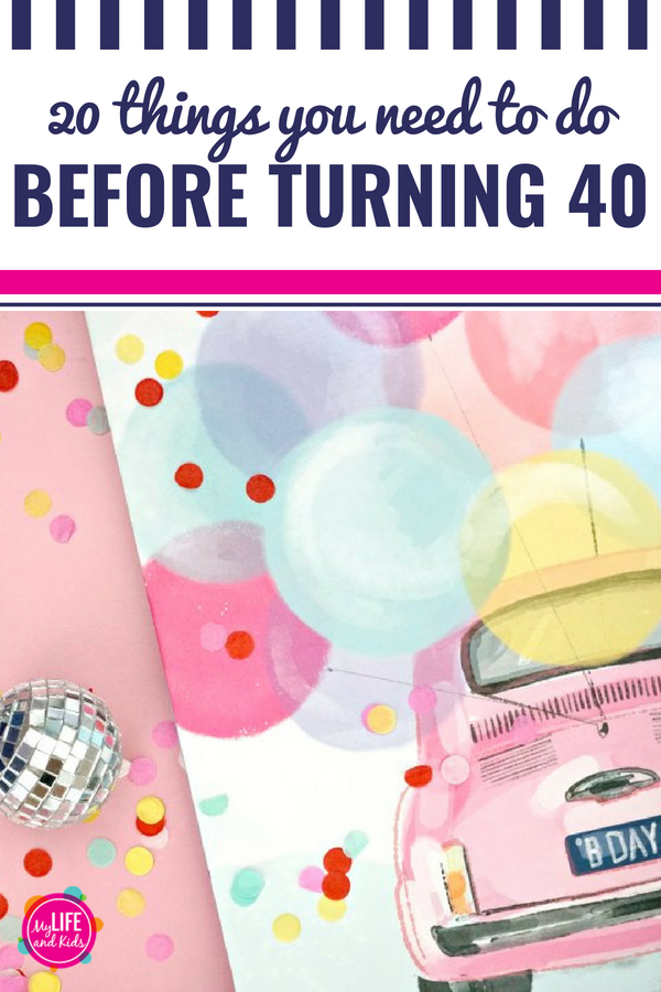 "20 things every woman needs to do before she turns 40. Do you have a 40th birthday coming up? These great ""bucket list"" ideas for women will make turning 40 a party (or at least a lot more fun!) I'm teaming up with @Olay to share them all. What would you add to the list? #AD #FeeltheWhip"