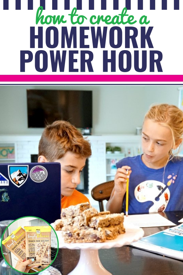 If you're looking for some homework motivation and organization for your kids, you should try incorporating a Homework Power Hour. I'm sharing five tips and ideas that you don't want to miss (including what NOT to do during the first week). Plus, I'll introduce you to our secret weapon when it comes to homework - Simply Delicious Snack Bar Dough by NESTLÉ® TOLL HOUSE®! #SnackSimply #sponsored #yum #homework #kids #backtoschool #motivation @nestletollhouse