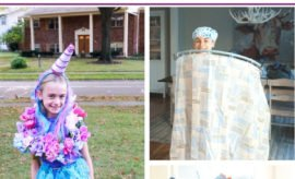 Whether you're looking for Halloween costume ideas for men, women, kids, teens, girls or boys, you're sure to find something to love with these three easy and insanely cheap DIY Halloween costumes using supplies from the Dollar Store or Dollar Tree. These are perfect last minute costume ideas, whether you need something for tonight's Halloween party, or you're a college student trying to create something on a budget. #Halloween #unicorn #Shower #karatekid #princess #DIY Costumes #DollarStore #DollarTree #cheap #last minute.